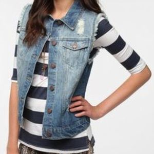 URBAN OUTFITTERS BDG DENIM VEST DISTRESSED